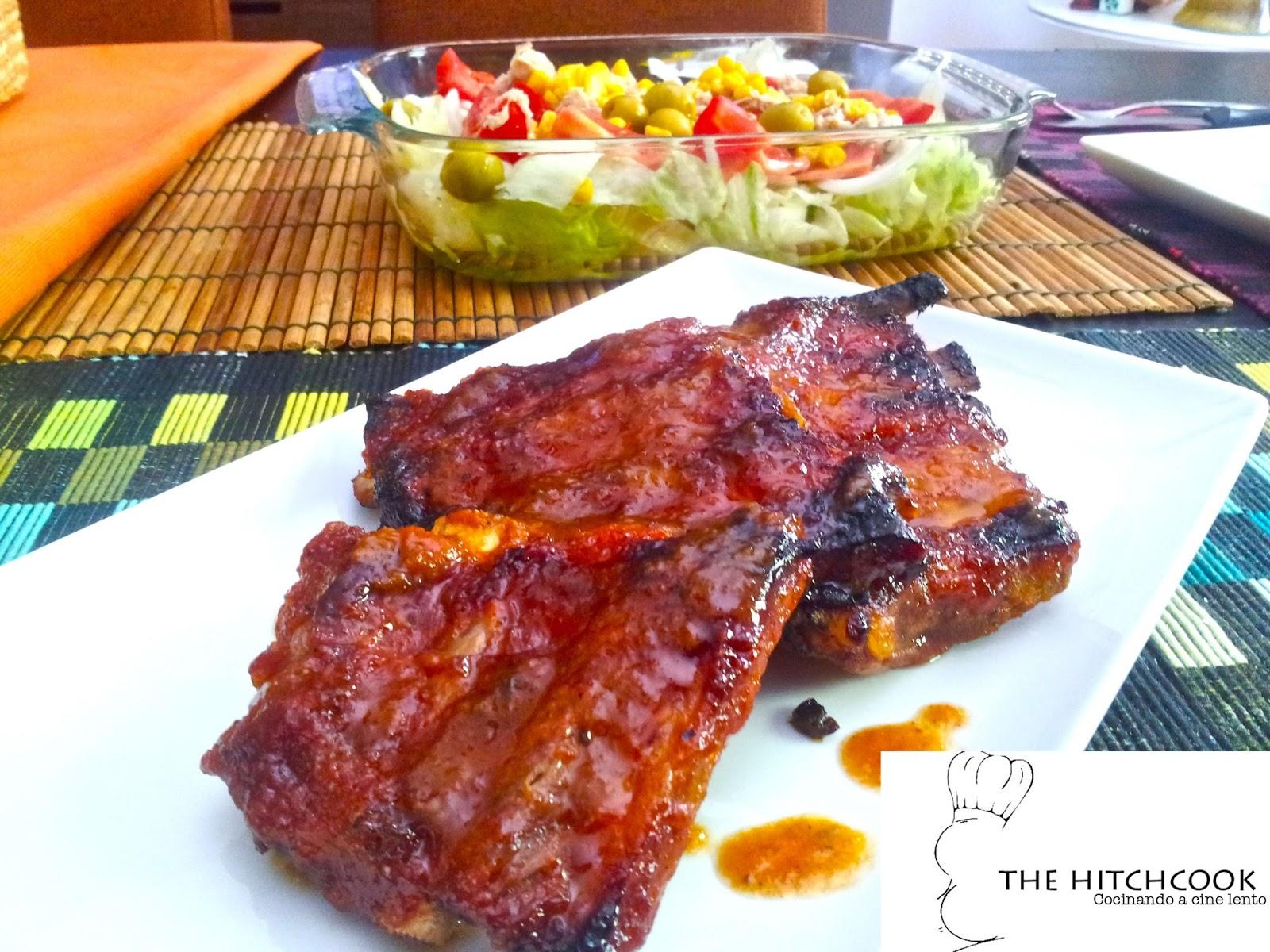 The hitchcook costillas asadas con salsa barbacoa casera for Salsa barbacoa ingredientes