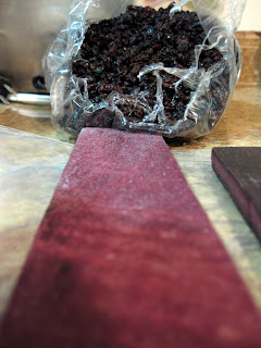 The wine soaked oak and dried currants.