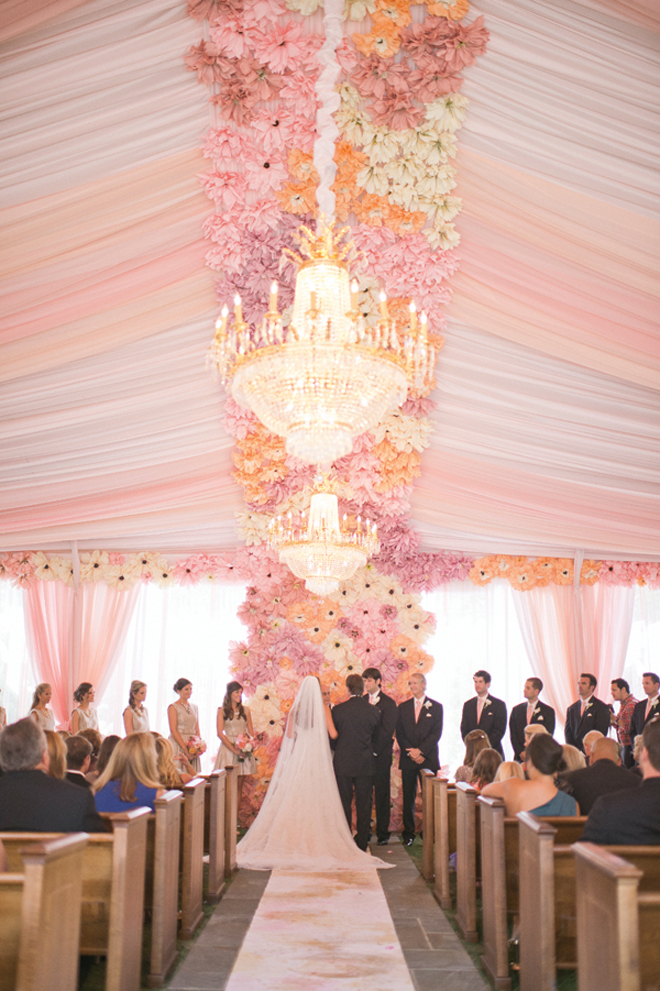 Styled the aisle wedding ceremony ideas belle the magazine for Floral wedding decorations ideas