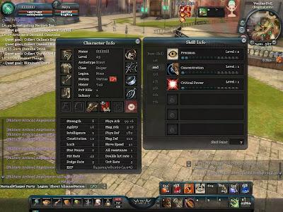 Aika - Character Attributes and Skills 2