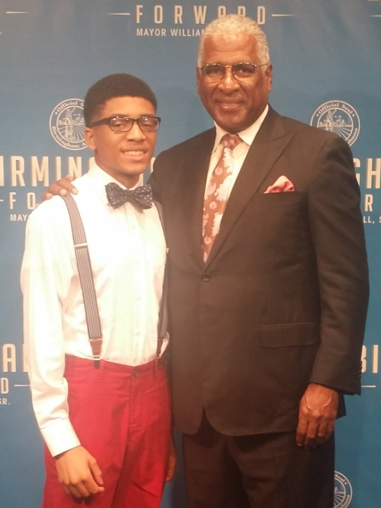 Jaylen and Mayor William Bell