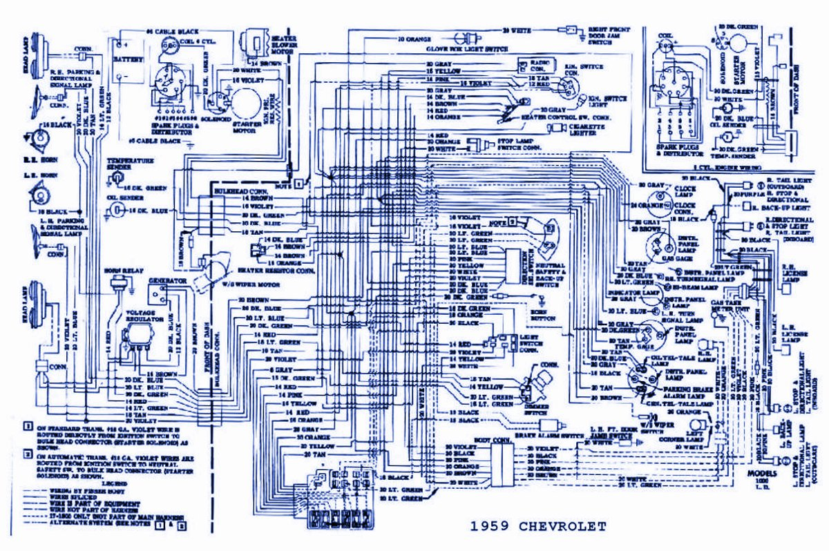 general wiring diagram for 1959 chevrolet passenger car wiring diagram of car 7 3 ford diesel diagrams \u2022 free wiring 1959 cadillac 390 engine wiring diagram at mifinder.co