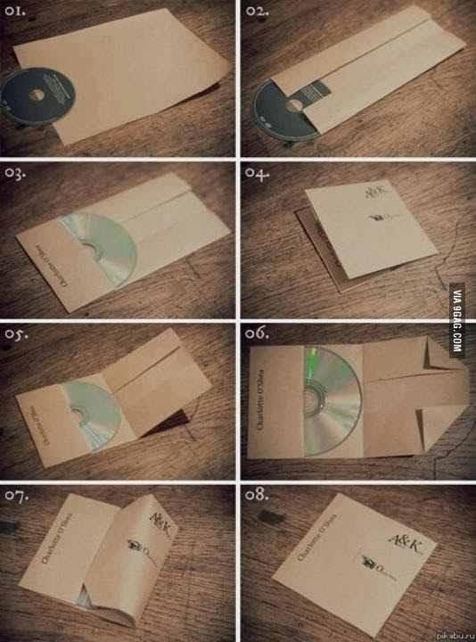 Cara Membuat Tempat CD Dari Kertas A4