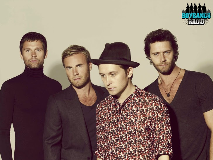 Jason Orange, Gary Barlow, Mark Owen and Howard Donald are Take That. This is a picture after their big comeback in the 2000s.