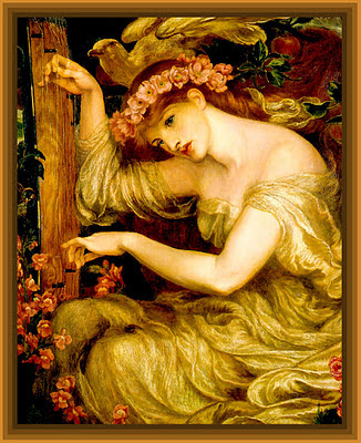 cuadro de Dante Gabriel Rossetti vintage para manualidades