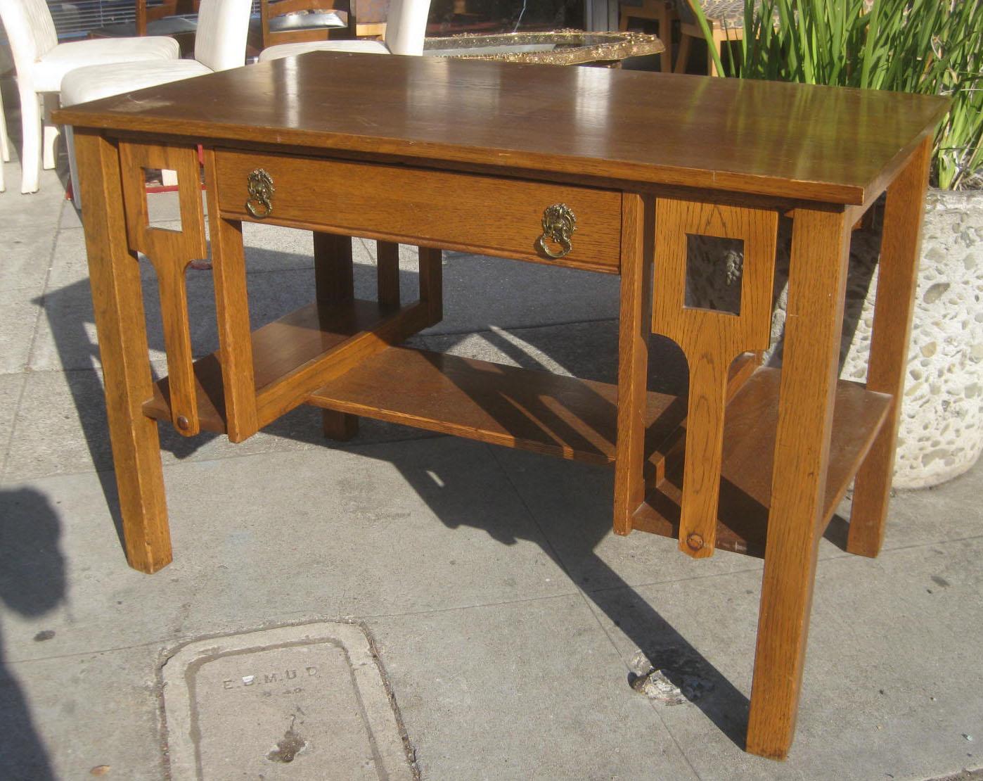 uhuru furniture collectibles sold mission oak desk 125