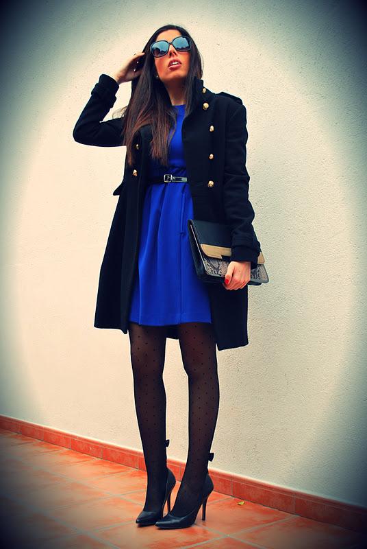 Vestido azul klein