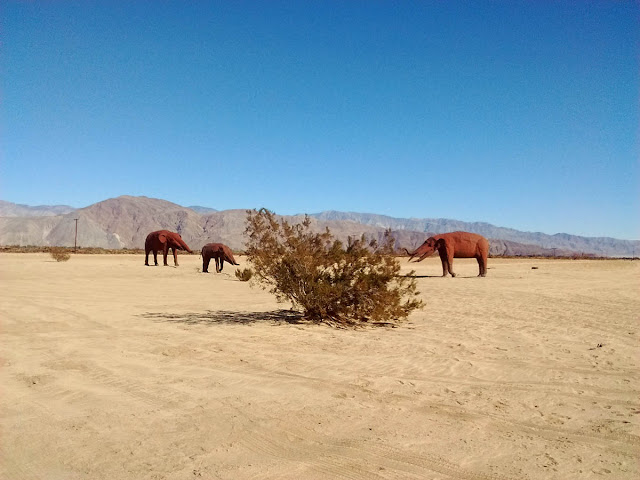 Metal scuptures of Borrego Springs