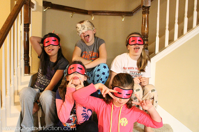 """Find a fun trinket like eyeshades or nail polish to put in goodie bags for an """"unslumber"""" party."""