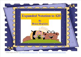 bear, expanded notation, 120, number sense, math, 1st grade
