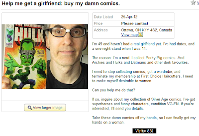 Nerd selling comics wants a girlfriend