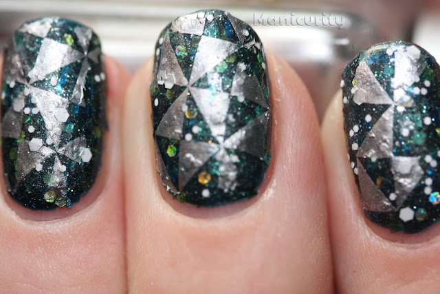 Manicurity: Once Upon a Polish Flotsam and Jetsam and Sonoma Nail Art White Wedding stamped with Barry M silver foil and Cheeky plate #13