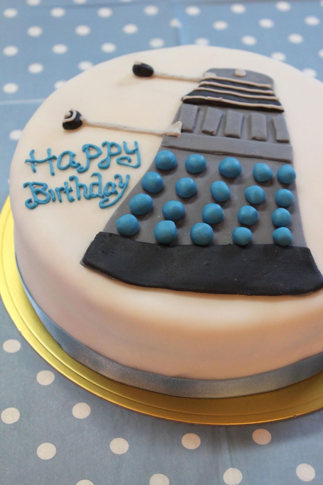 Tortelicious Drwho Birthday Cake