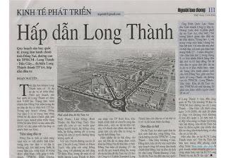 Nguoi Lao Dong viet ve SAN BAY LONG THANH