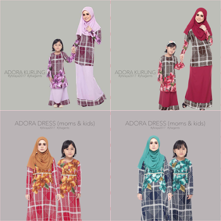 Introducing after sooooo long,  ADORA DRESS iaitu dress sedondon Ibu & Anak