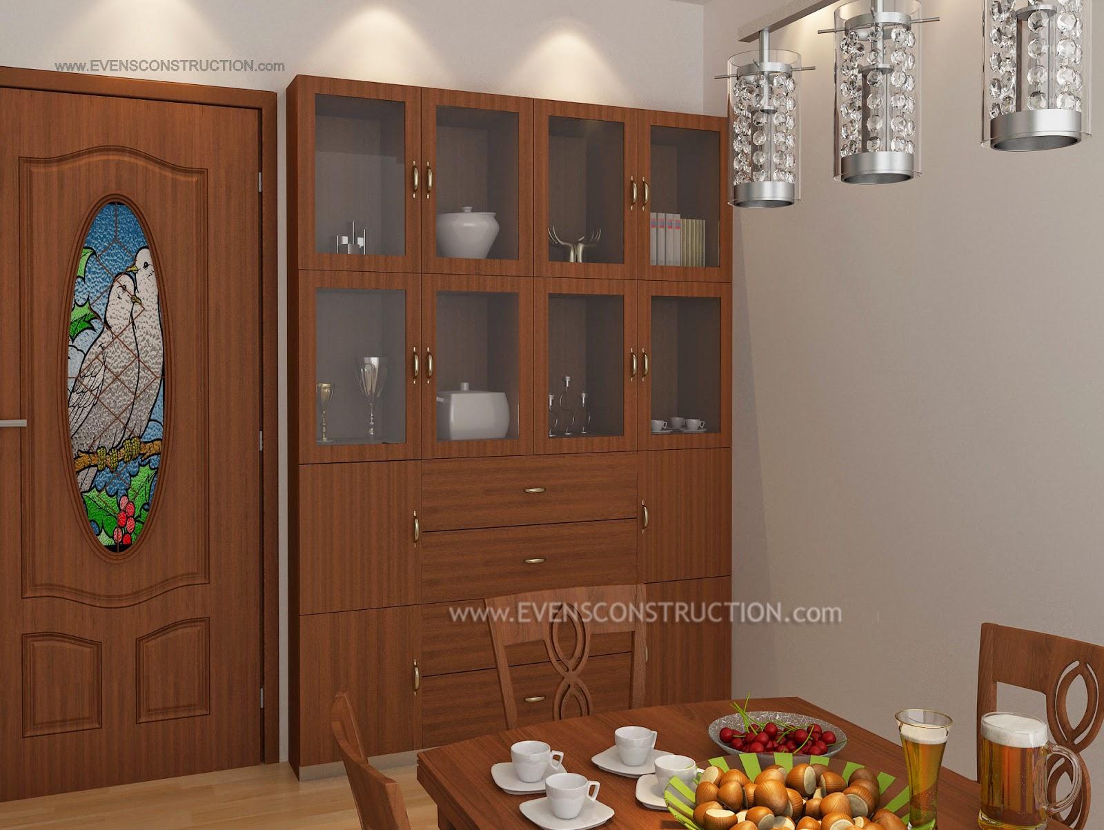 Evens Construction Pvt Ltd: Crockery shelf in dining room