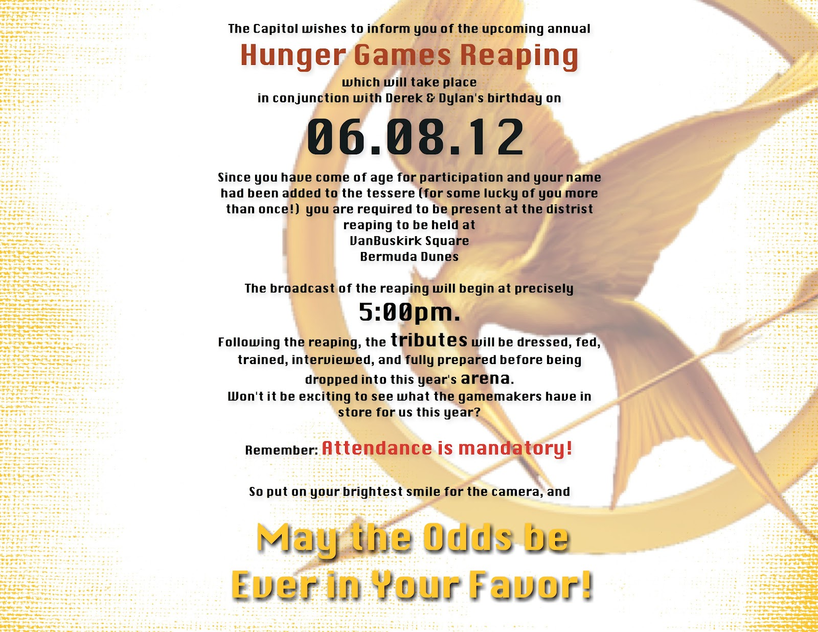 Hunger Games Party Invitations as perfect invitations template