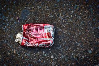 flat coke can