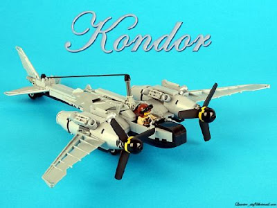 Kondor, lego steampunk fighter