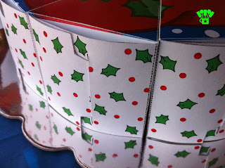 Santa Cake Box Free Printable side view