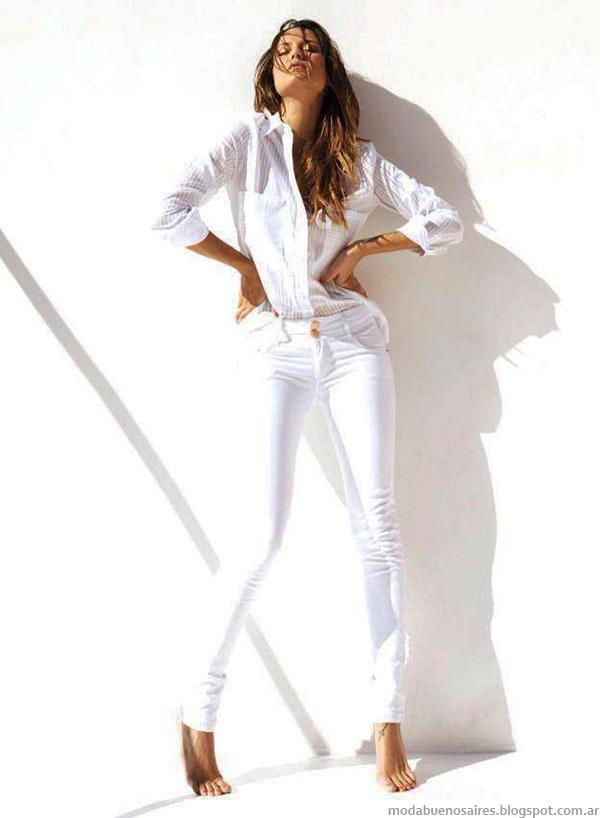 Moda total look blanco verano 2015. Moda mujer verano 2015.