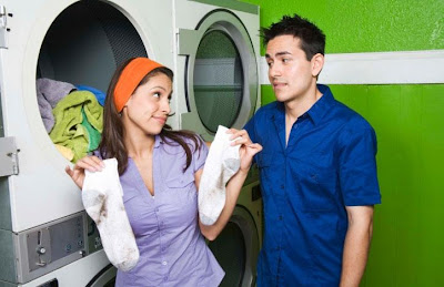 You Can't Change Him !!! - woman holding dirty laundry sucks