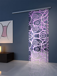 puerta moderna de cristal
