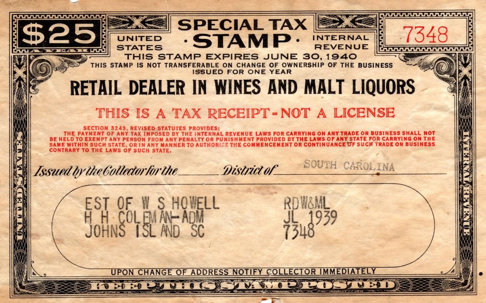 Liquor Revenue Stamp Dating