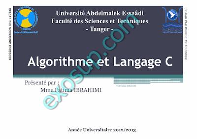 cours d'algorithme FST Tanger