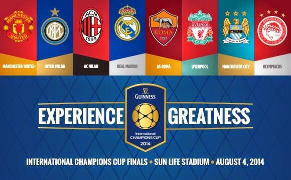 Jadwal Lengkap Pertandingan Guinness International Champions Cup 2014