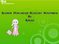 Segmen Pencarian Bloglist November By Kinah