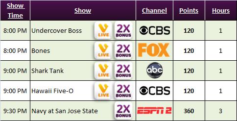 Viggle Live Schedule