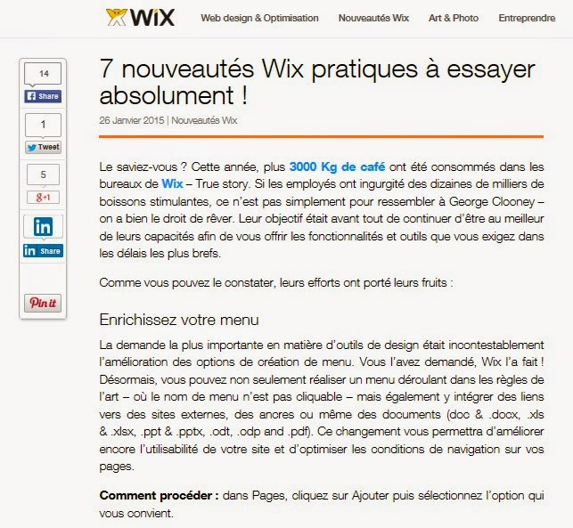 Article Wix