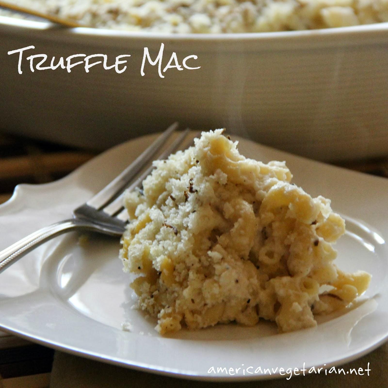 Vegetarian: Truffle Mac, Vegan with Roasted Cauliflower, Cashew Cream ...