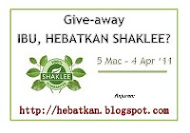 """Give-away Ibu, Hebatkan Shaklee..."""