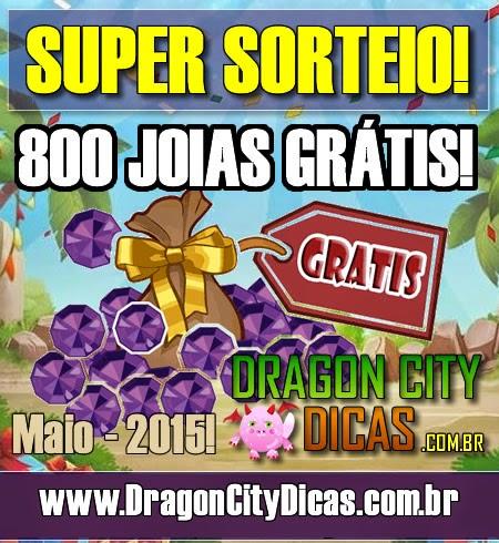 Super Sorteio de 800 Joias Grátis - Maio 2015