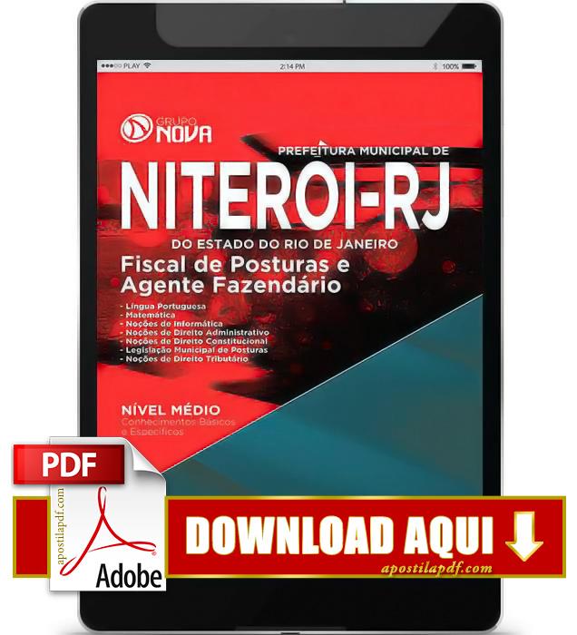 Apostila Prefeitura de Niterói RJ 2015 PDF Download Agente Fazendário