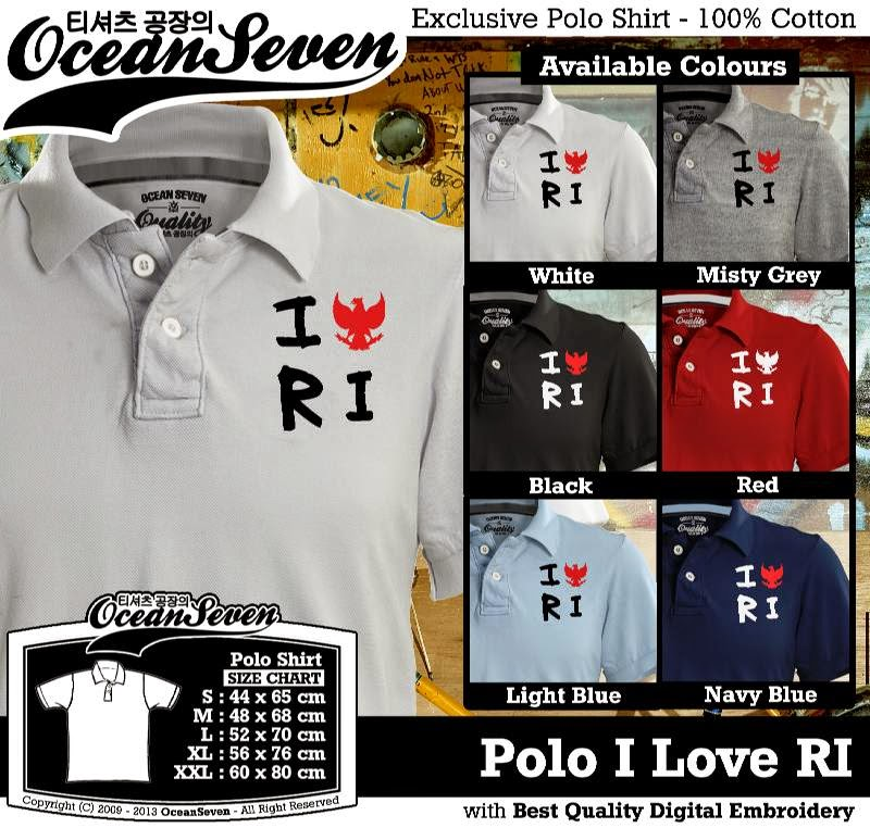 Kaos Polo I Love RI