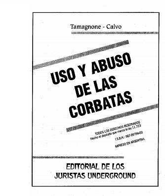 USO Y ABUSO DE LAS CORBATAS