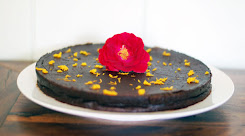 Orange Blossom Flourless Chocolate Cake