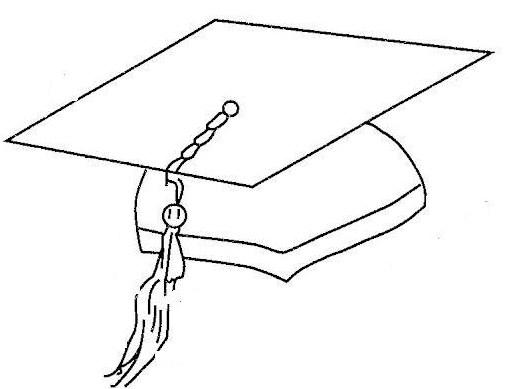 Como dibujar un birrete de graduacin  Imagui