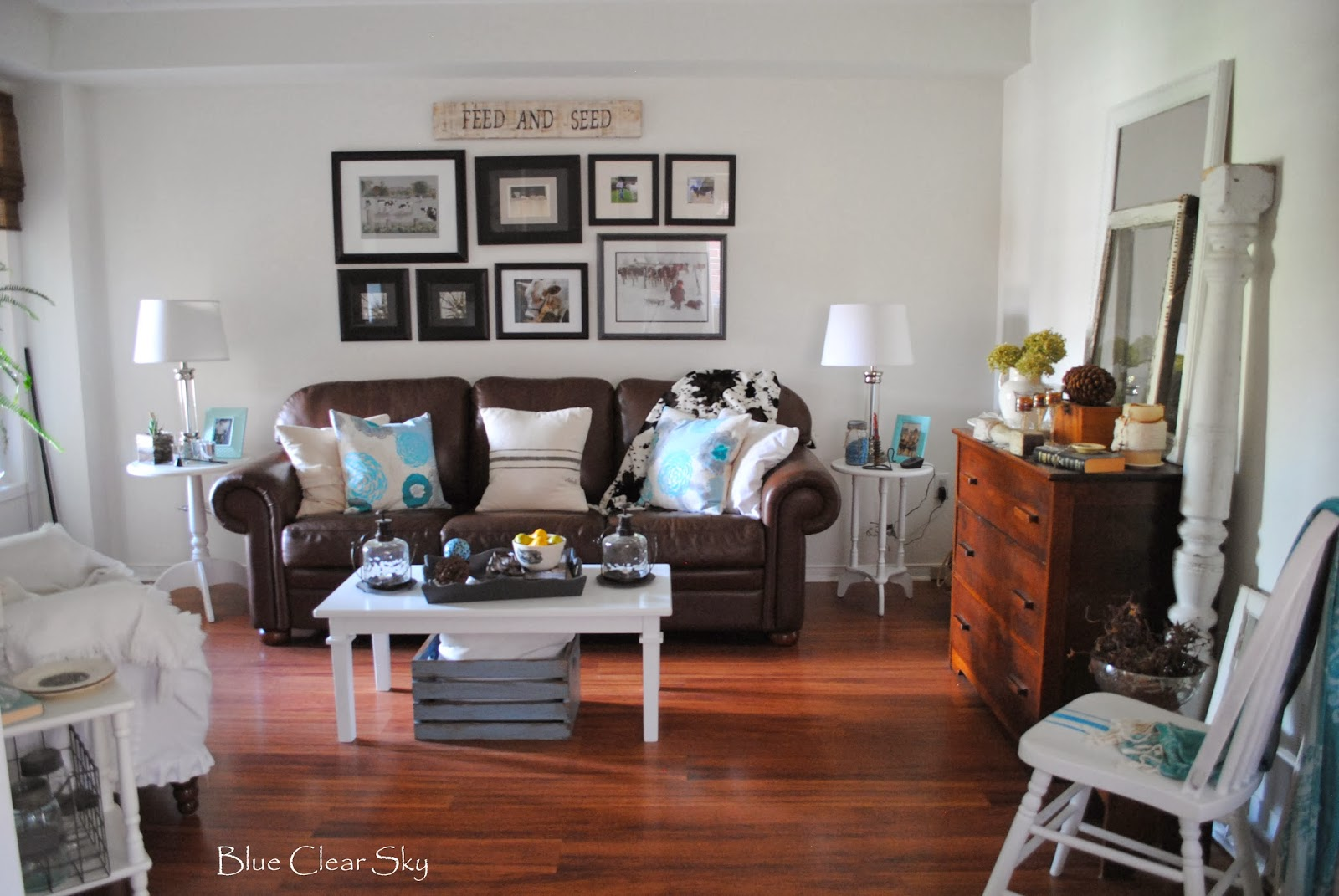 Blue Clear Sky: Architectural Salvage In Our Living Room