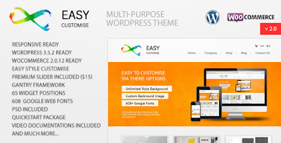 EasyCustomise multipurpose commerce wordpress theme