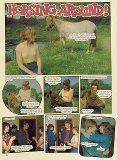 Horsing Around photo story from Jackie annual '84, starring Alan Cumming 1