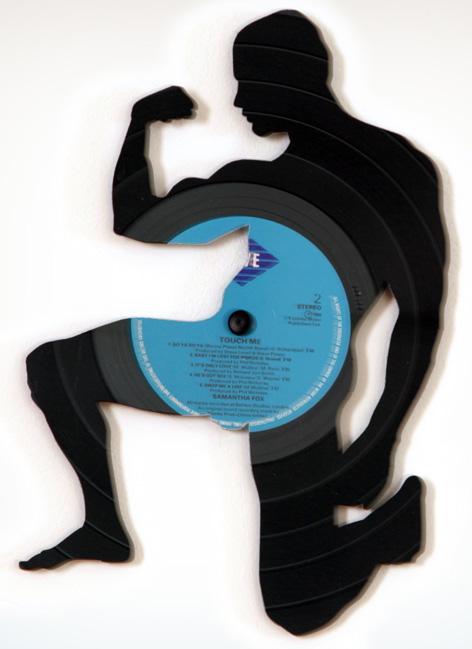 Discos de Vynil, Vinilo, Acetatos, Música, reciclar discos, Siluetas,