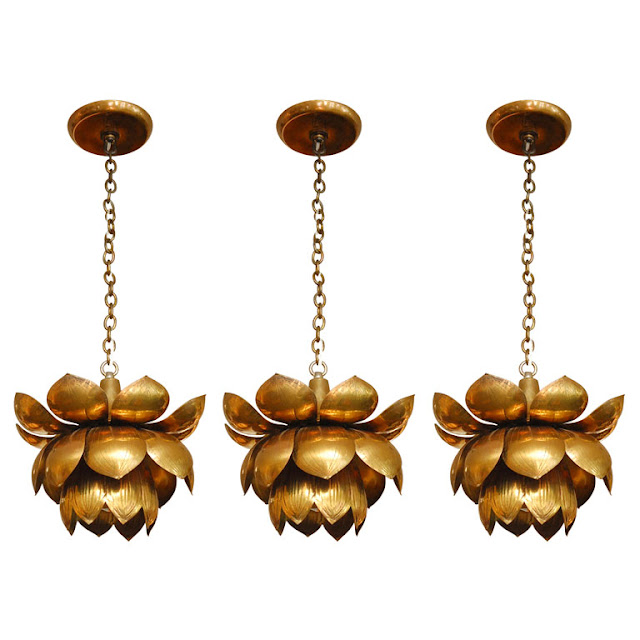 Vintage Lotus Lamp Pendants