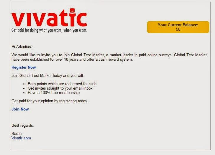 Vivatic ankiety zagraniczne, zarabiaj w funtach na opiniach