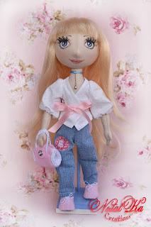 Handgemachte Stoffpuppe Anina von NatalKa Creations. Текстильная кукла Анина
