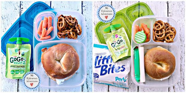 My Epicurean Adventures: Lunch Box Fun 2015-16: Week #16 - Bagel Lunch. Lunch box ideas, school lunch ideas, lunches