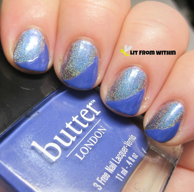 Butter London Giddy Kipper was a nice match for a diagonal French tip